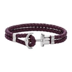 Phrep Armband aus Leder in Dark Mauve