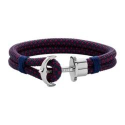 Phrep Armband für Herren aus Nylon, rot, blau
