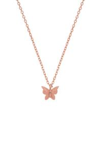 PINK BUTTERFLY Halskette rosé vergoldet