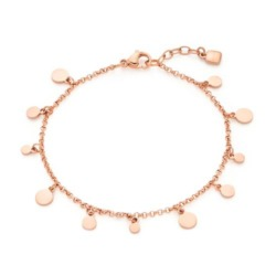 Plättchen Armband Rica für Damen aus Edelstahl, rosé