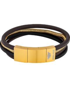 Police Herren-Armband Bolgar Leder, Metall