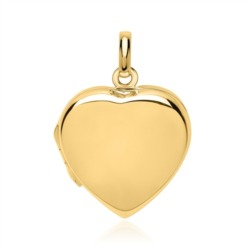 Poliertes Herzmedaillon silber vergoldet