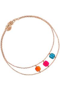 POLYGEM Armband Blau Orange Pink