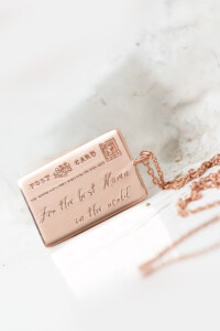 POSTCARD FOR MAMA Halskette rosé vergoldet – LIMITED EDITION