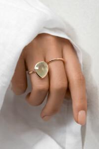 PREHNIT Ring rosé vergoldet