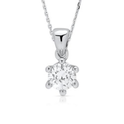 Premium 585er Gold Collier mit Diamant 0,25 ct.