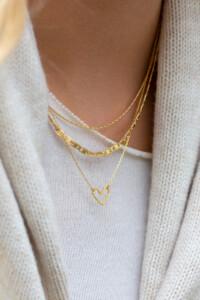 PURE LOVE Halskette gelb vergoldet
