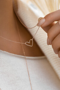 PURE LOVE Halskette rosé vergoldet
