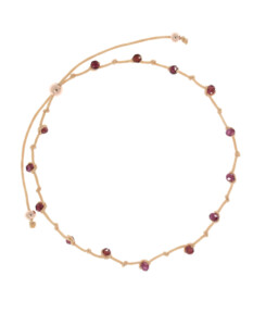PURPLE BEADS|Armband Beige