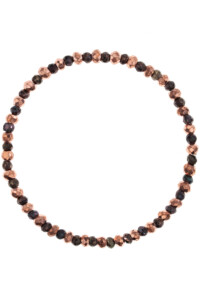 Pyrit Armband rosé vergoldet &amp  coated