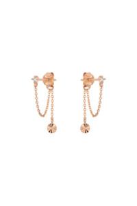 RADIANT CIRCLE Ear Jackets rosé vergoldet