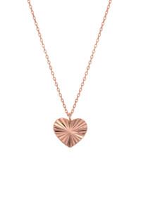 RADIANT HEART Halskette rosé vergoldet