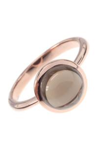 Rauchquarz Roségold Ring