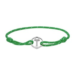 Re/Brace Armband aus grünem Nylon mit Anker