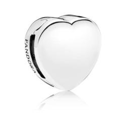 Reflexions Gravur Clip Heart für Damen aus 925er Silber