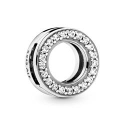 Reflexions Kreis Charm aus 925er Silber mit Zirkonia