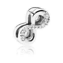Reflexions Sparkling Infinity Clip aus 925er Silber