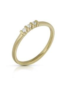 Ring 585/- Gold Brillant weiß Brillant Glänzend 0.09Karat Orolino gelb
