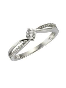 Ring 585/- Gold Brillant weiß Brillant Glänzend 0,25ct. Diamonds by Ellen K. weiß