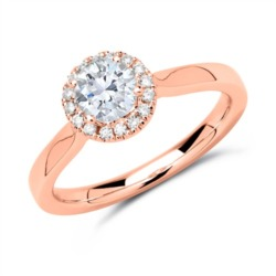 Ring 750er Roségold mit Diamanten