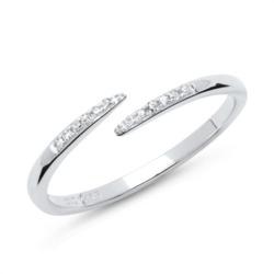 Ring 585er Weißgold 14k und 12 Diamanten 0,06ct.