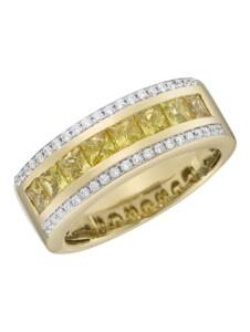 Ring 750/- Gold Saphir gelb Saphir Glänzend 1,469ct. Creazione Bijoux gelb
