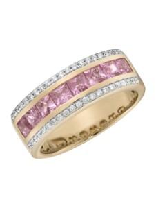 Ring 750/- Gold Saphir pink Saphir Glänzend 1,899ct. Creazione Bijoux rot