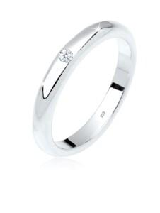 Ring 925 Sterling Silber Diamant Ct 0.03 Verlobungsring DIAMORE Weiß