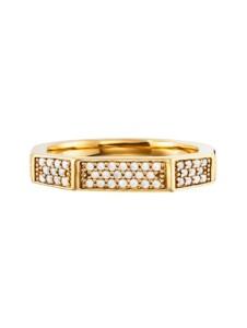 Ring 925/- Sterling Silber Kristall weiß Glänzend CAI gelb