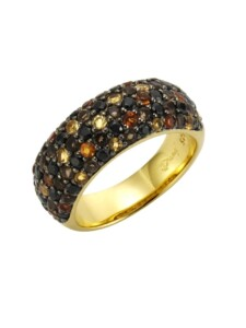 Ring 925/- Sterling Silber mehrfarbig Glänzend Jamelli bunt
