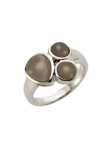 Ring 925/- Sterling Silber Rauchquarz braun Glänzend Jamelli Silbergrau