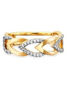 Ring 925/- Sterling Silber Topas weiß vergoldet 0,068ct CAI mehrfarbig