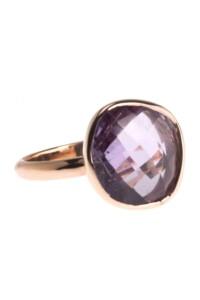 Ring Amethyst Sterling Silber rosé vergoldet