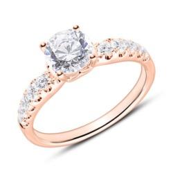 Ring aus 18-karätigem Roségold mit Diamanten