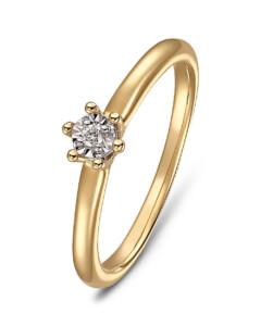 Ring aus 375 Gelbgold mit Diamant
