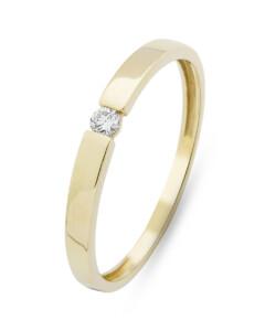 Ring aus 375 Gold mit 0.05 Karat Diamant-58