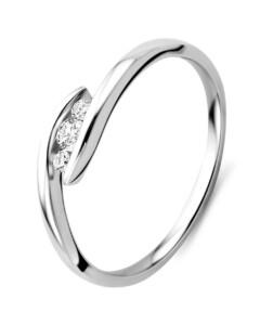 Ring aus 375 Weißgold mit 0.10 Karat Diamanten-09