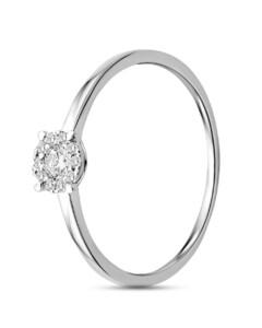 Ring aus 375 Weißgold mit 0.16 Karat Diamanten-56