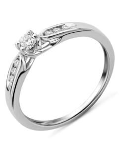 Ring aus 375 Weißgold mit 0.20 Karat Diamanten-11