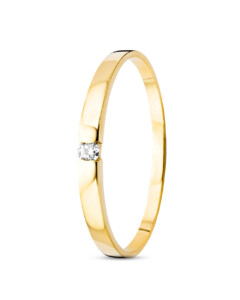 Ring aus 585 Gold mit Diamant-58