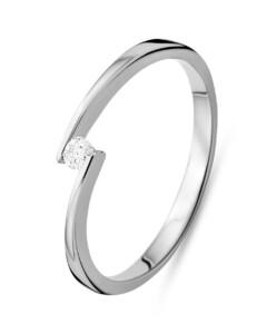 Ring aus 585 Weißgold mit 0.05 Karat Diamant-50