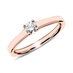 Ring aus 585er Roségold mit Diamant 0,25 ct.