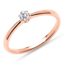 Ring aus 585er Roségold mit lab-grown Brillant