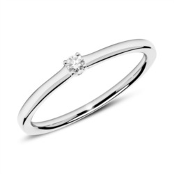 Ring aus 585er Weißgold mit Diamant 0,05 ct.