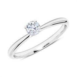 Ring aus 585er Weißgold mit Diamant 0,25 ct.