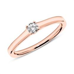Ring aus 750er Roségold mit Diamant 0,15 ct.