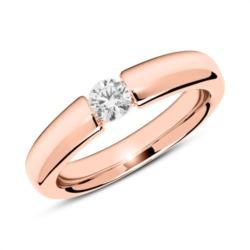 Ring aus 750er Roségold mit Diamant 0,25ct.