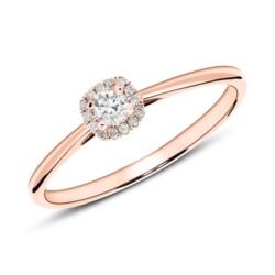 Ring aus 750er Roségold mit Diamanten