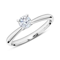 Ring aus 750er Weißgold mit Diamant 0,50 ct.