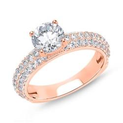 Ring aus rosévergoldetem 925er Silber mit Zirkonia